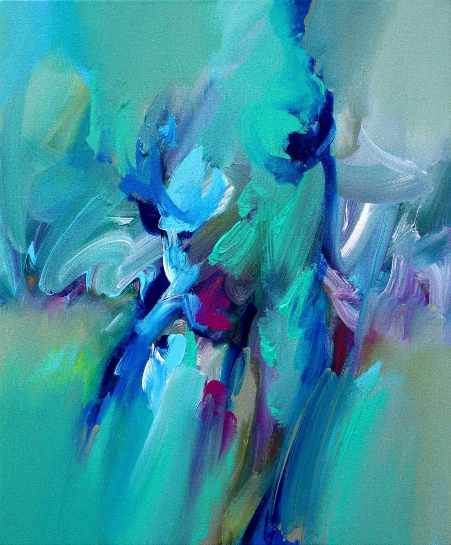 Aqua Torso – 20 x 24