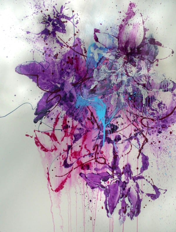 Floral Burst | Drawing by Tom Potocki Fine Arts | Charleston, SC