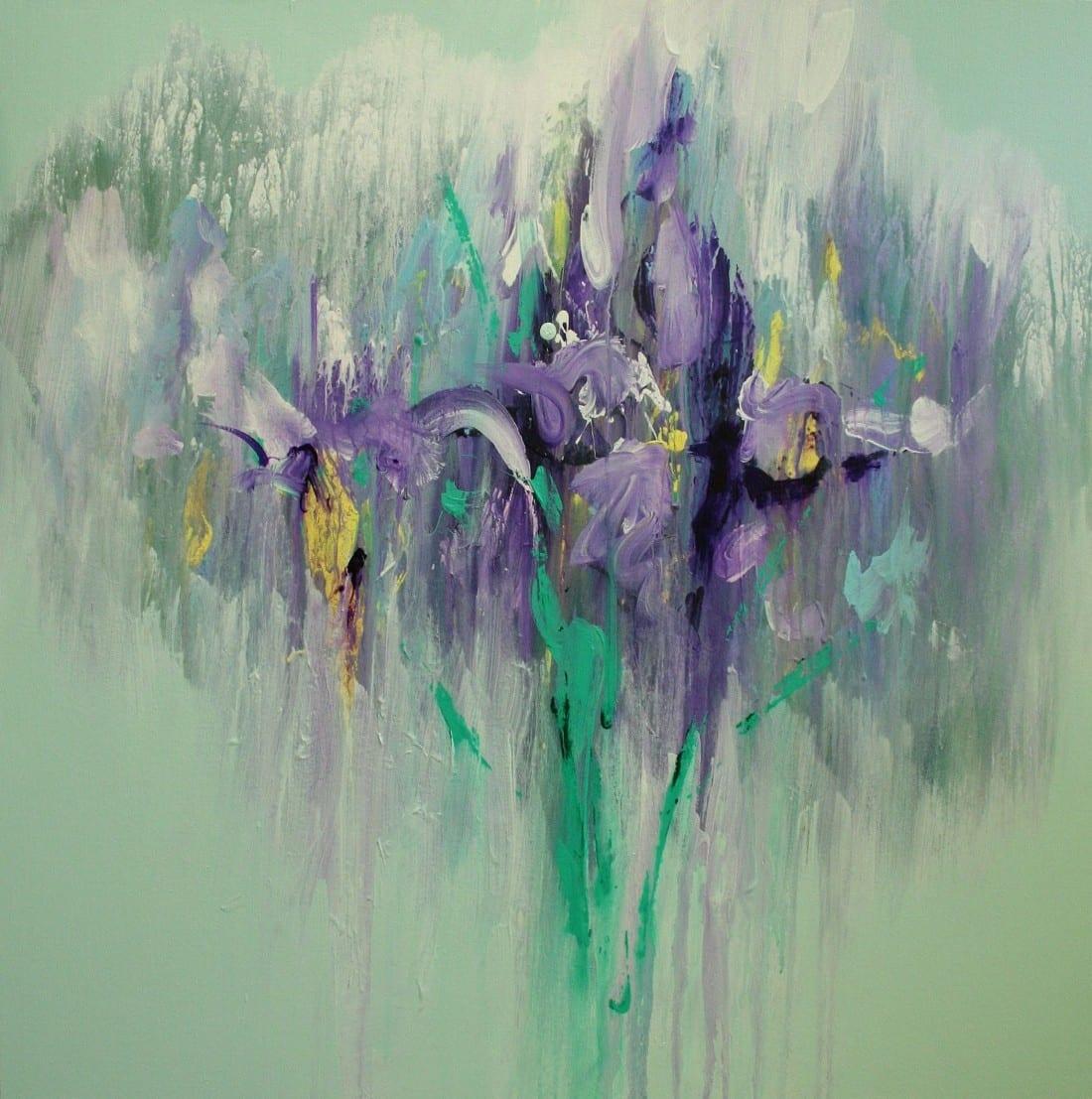 Liquid Iris 36 x 36