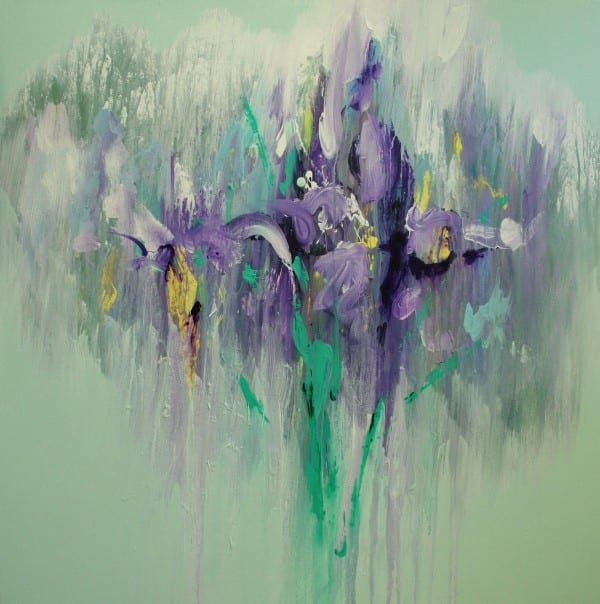 Liquid Iris | Painting by Tom Potocki Fine Arts | Charleston, SC