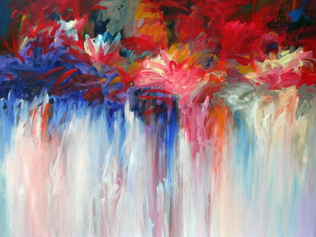 Floral Fire 36 x 48