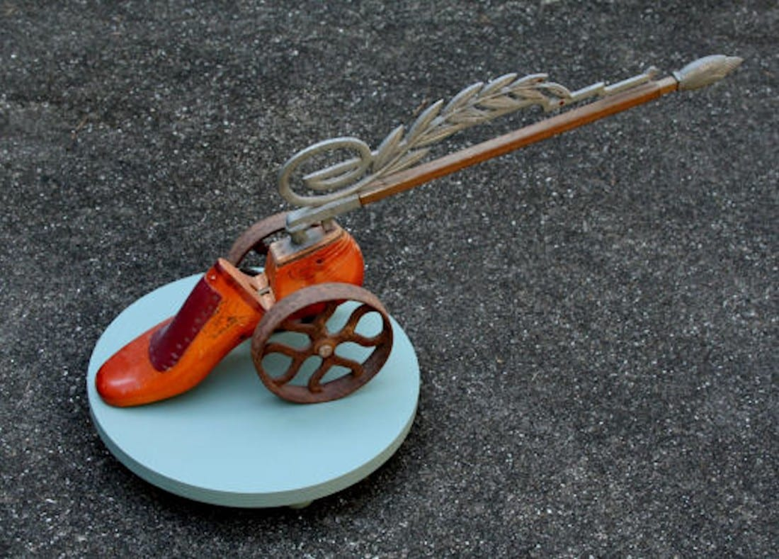 Shoe Cannon | Sculpture by Tom Potocki Fine Arts | Charleston, SC