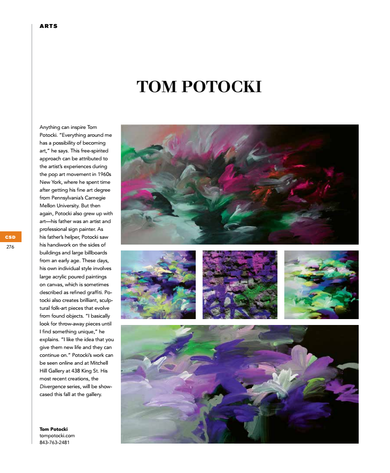 Tom Potocki Charleston Art