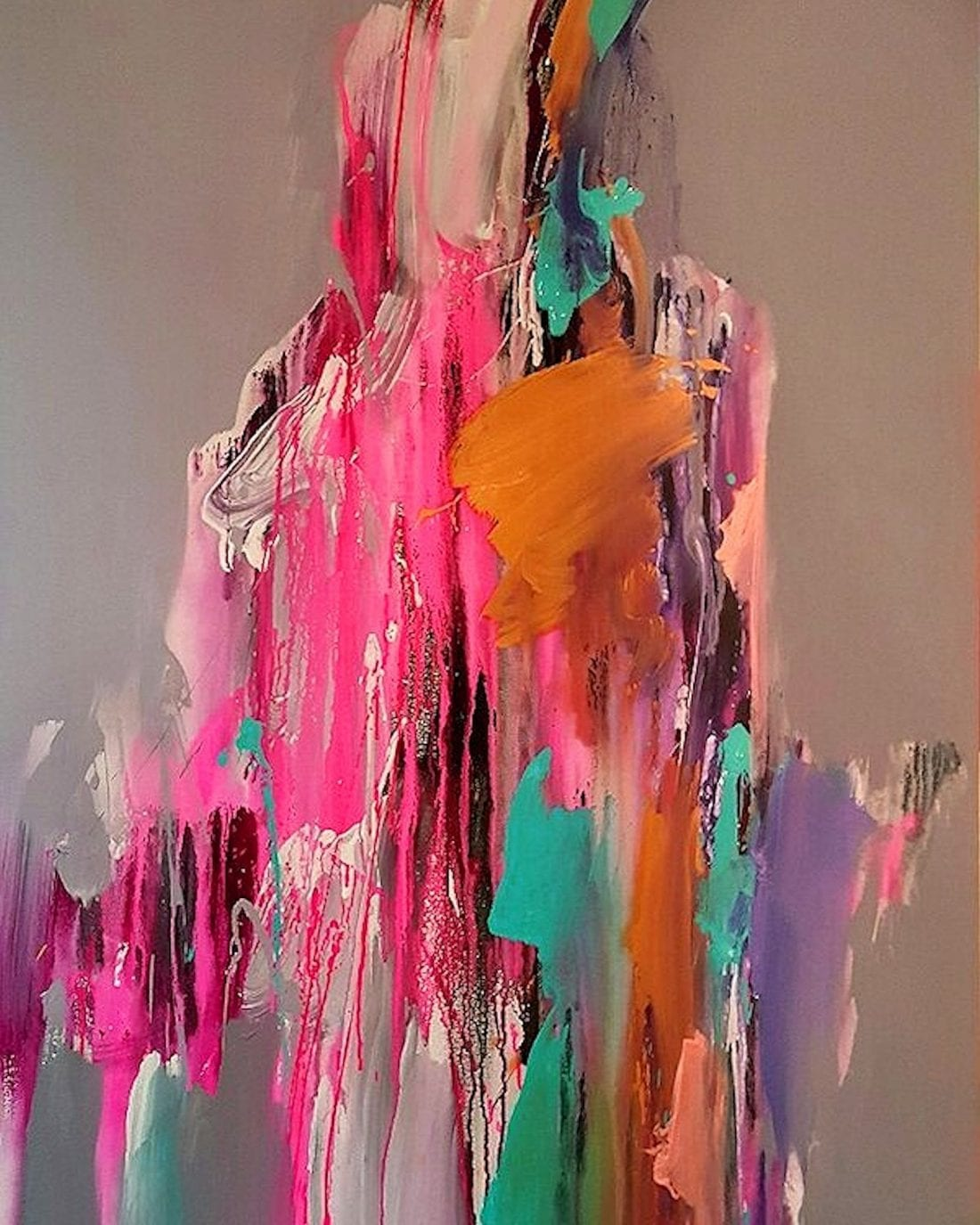 Pink Aura 36 x 54