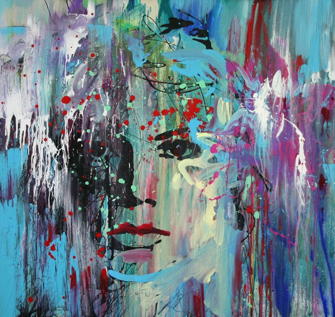 Face in the Crowd 48 x 48 SOLD