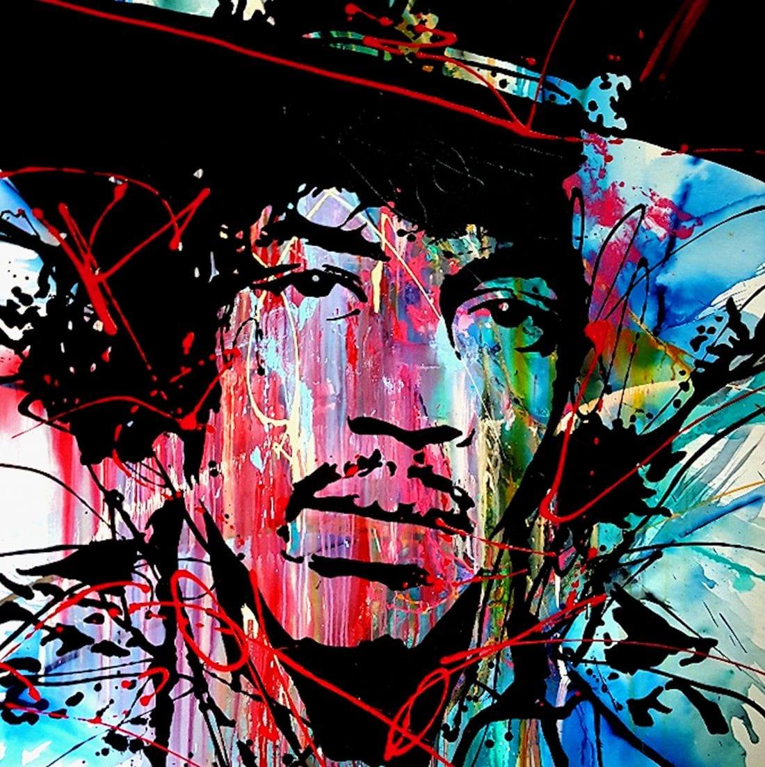 Jimi Hendrix 48 x 48