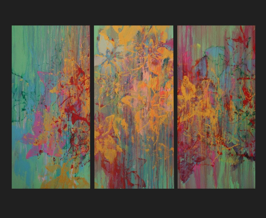 Jungle Nights 4′ x 6′ triptych