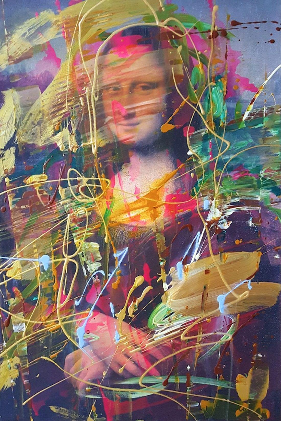 Modern Mona Lisa 24 x 36